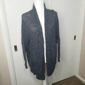 Hollister Womens XS/Small Crochet Gray Cardigan
